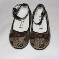 GUCCI Туфельки для девочки коричневые