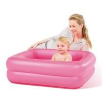 """Детский бассейн """"Квадрат"""" 86 х 86 х 25 см, Bestway 51116, цвет розовый"""