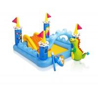 """Комплект в кроватку """"Домики"""" розовый"""