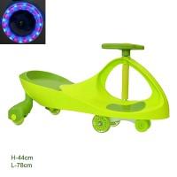 Толокар зеленый / TNWJ-09 / колеса полиуретановые, светятся